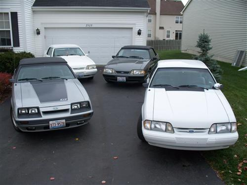 Dan Baran's '86 '88 '92 '93 Ford Mustangs