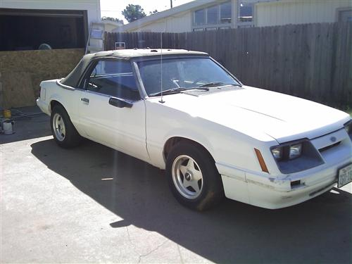 1985 Mustang convertable - Dusty Norred's 1985 Mustang convertable