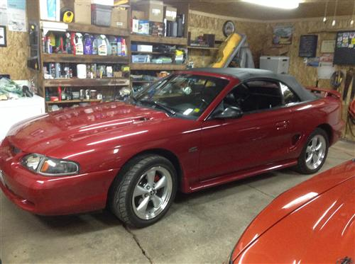 Eric Cormier's 1995 Ford Mustang gt. Convt.