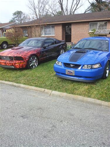 jorge martinez's 2008 and 2003 ford mustang gt and mach 1