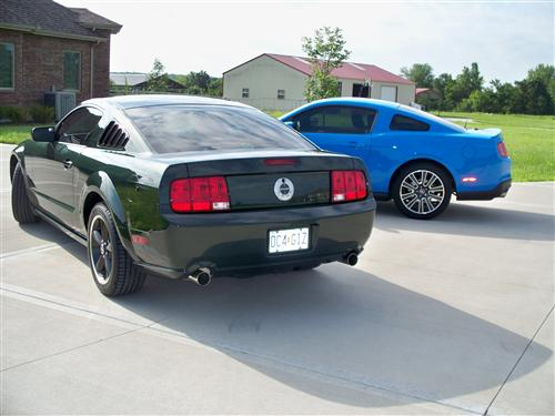 Mike Stahl's 2008 and 2010 Ford Bullitt and GT