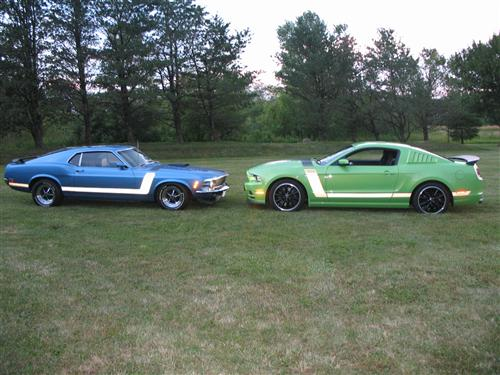 Tom  McAlister's 1970, 2013 Ford Boss 302's