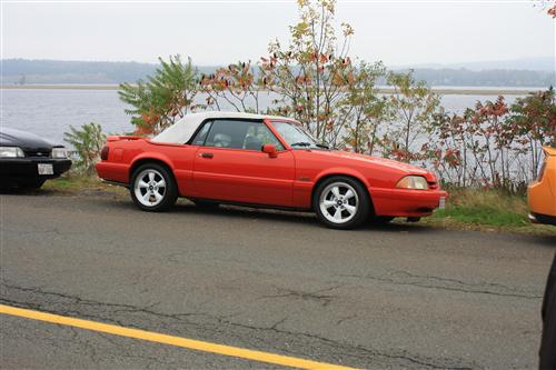 Tony Gauvin's 1992 1/2 Ford Mustang lx Summer Edition Convertible Vibrant Red